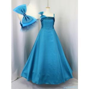 ゆめりすと エントラータ SE ターコイズブルー 130:高級子供ロングドレス yume-list