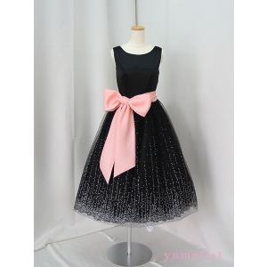 高級子供ドレス ゆめりすと ミルキーウェイ ブラック ミドル丈 140|yume-list