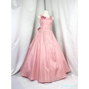 ゆめりすと パールローズプリンセス SE2 ピンクベージュ 155:高級子供ロングドレス yume-list