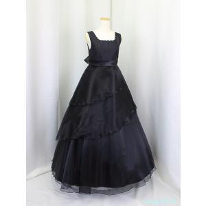 ゆめりすと プリマダージュv2 ブラック 130:演奏会発表会用ドレス yume-list