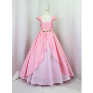 高級子供ロングドレス ゆめりすと ローズマリー・キャプスリーブ 155 (1着限り) yume-list
