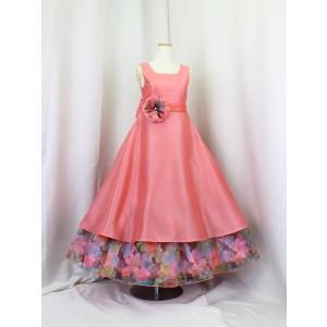 高級子供ドレス ゆめりすと ロゼリッタ サーモンピンク 110 安心の足首丈|yume-list