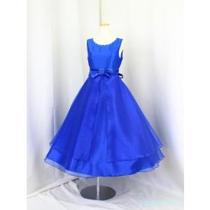 高級子供ドレス ゆめりすと サリア ディープブルー 140|yume-list