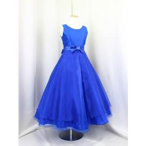 高級子供ドレス ゆめりすと サリアv2 ディープブルー 160|yume-list
