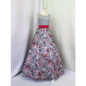 高級子供ロングドレス ゆめりすと セレナーデss グレイ 165|yume-list