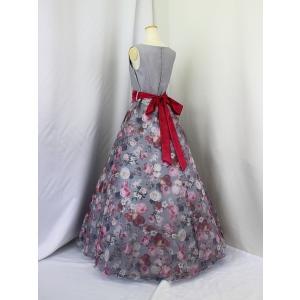 高級子供ロングドレス ゆめりすと セレナーデss グレイ 165|yume-list|02