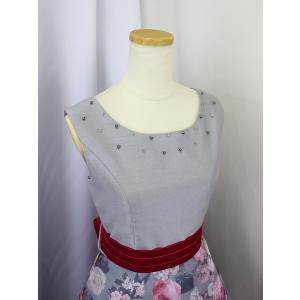 高級子供ロングドレス ゆめりすと セレナーデss グレイ 165|yume-list|03