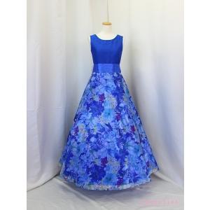 高級子供ドレス 受注生産 ゆめりすと セレナーデss ロイヤルブルー|yume-list