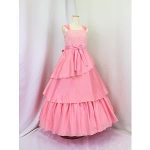 高級子供ドレス ゆめりすと シェリーム ピンクベージュ 安心の足首丈 140|yume-list