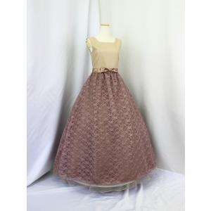 高級子供ドレス 受注生産 ゆめりすと シャンタンレースオーガン クリームココア|yume-list