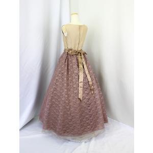 高級子供ドレス 受注生産 ゆめりすと シャンタンレースオーガン クリームココア|yume-list|02
