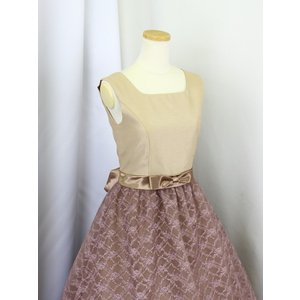 高級子供ドレス 受注生産 ゆめりすと シャンタンレースオーガン クリームココア|yume-list|03