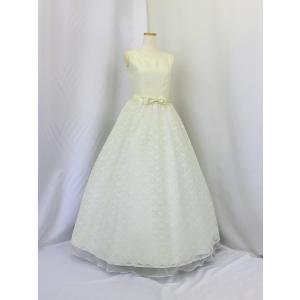 高級子供ドレス 受注生産 ゆめりすと シャンタンレースオーガン アイボリー|yume-list