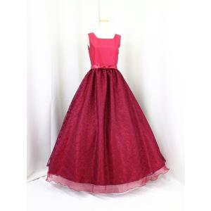 高級子供ドレス 受注生産 ゆめりすと シャンタンレースオーガン ワイン|yume-list