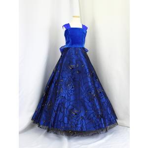 高級子供ロングドレス ゆめりすと ベルトーリア SE ディープブルー 135 yume-list