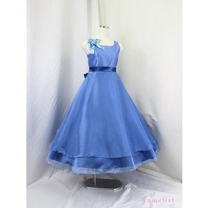 高級子供ドレス ゆめりすと ビクトリアv4 グレイッシュブルー 120|yume-list