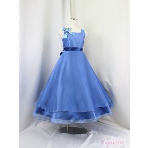 高級子供ドレス ゆめりすと ビクトリアv4 グレイッシュブルー 140|yume-list