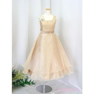 高級子供ドレス ゆめりすと ビクトリア v4 シャンパンゴールド 130|yume-list