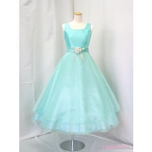 高級子供ドレス ゆめりすと ビクトリアv4 ペパーミントグリーン 120|yume-list