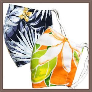 ハワイアンクロスの布マスク|yume-ribbon