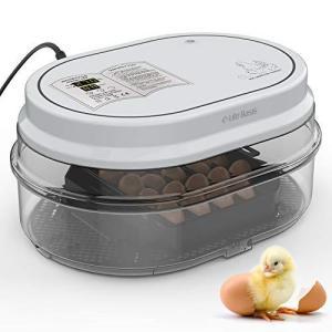 LifeBasis孵卵器 インキュベーター 孵化器 自動転卵 鳥類専用18個入卵 ヒヨコ生まれ 家庭...