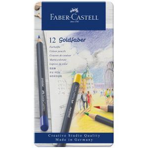 Faber-Castell ファーバーカステル ゴールドファーバー色鉛筆セット 12色セット (缶入)|yumegazai
