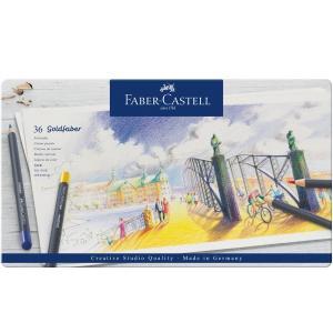 Faber-Castell ファーバーカステル ゴールドファーバー色鉛筆セット 36色セット (缶入)|yumegazai