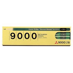 三菱鉛筆 鉛筆 9000 2B 六角事務用 K90002B ※1ダース|yumegazai