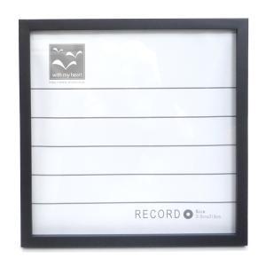 レコードフレーム 316角 ブラック|yumegazai