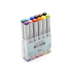 コピック カラーペンCOPIC コピック クラシック 12色 基本色セット|yumegazai