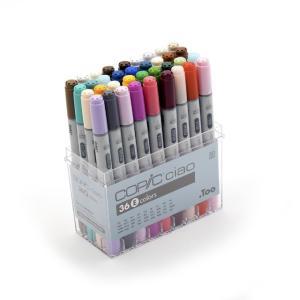 コピック カラーペンCOPIC コピックチャオ 36色セット Eセット|yumegazai