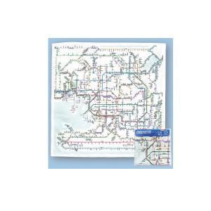 鉄道路線図 ハンカチ 関西 日本語版 yumegazai