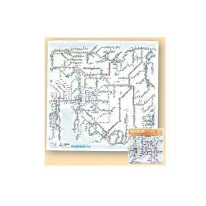 鉄道路線図 ハンカチ 中部 日本語版 yumegazai
