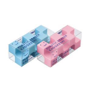 コクヨ 消しゴム カドケシプチ 2個入(ピンク・ブルー) ケシ-U750-3|yumegazai