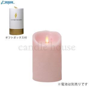 カメヤマキャンドル LEDキャンドル LUMINARA (ルミナラ)  ピラー3.5×5 ピンク 【ギフトボックス付】 yumegazai