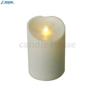 カメヤマキャンドル LEDキャンドル LUMINARA (ルミナラ)  アウトドアピラー3.75×5 アイボリー yumegazai