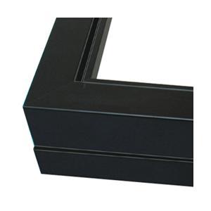 仮縁 プット26角 F100 黒【メーカー直送・代引き不可】|yumegazai