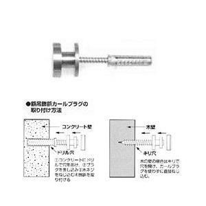 No.4101 額吊飾鋲 カールプラグ付(ステンレスネジ付) 大φ25mm 30kg yumegazai