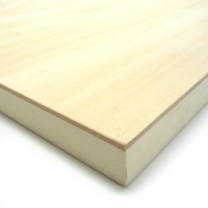 木製パネル シナベニヤパネル ジャケット (300×300mm) 10枚パック|yumegazai