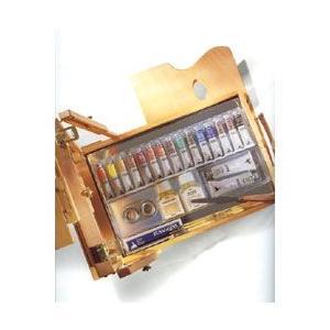 【画材 油絵具】 Maimeri アーティスティ 油絵具 テーブルイーゼルBOXセット 20ml|yumegazai