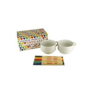 らくやきマーカー陶器セット スタッキングマグカップマーカーセット|yumegazai