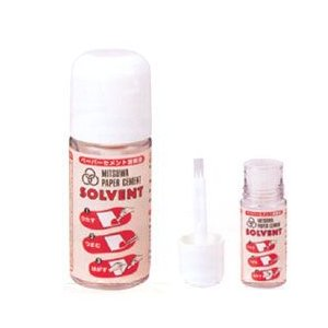 のり 接着剤ミツワ ペーパーセメント溶解液 ソルベント 50mlボトル|yumegazai