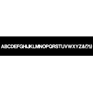 書体名:Helvetica Meduim 文字サイズ:18pt(大文字) マクソンレタリングは無伸縮...