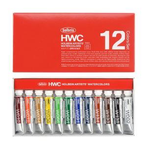 ホルベイン 透明水彩絵具 12色セット 2号チューブ|yumegazai