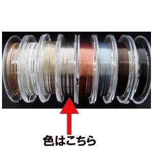 ステンレスカラーワイヤー 10m巻 クリアシルバー 外径0.18mm|yumegazai