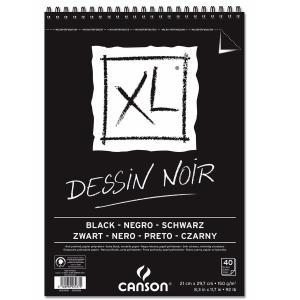 CANSON キャンソン XL ブラック A4 スパイラル|yumegazai