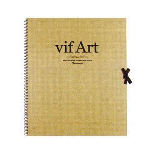 vifArt ヴィフアール水彩紙 スケッチブック F8(457×386mm) 300g/m2 中目|yumegazai