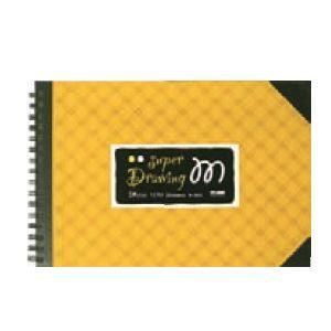 スケッチブック スーパーM画ブック 黄色 SM