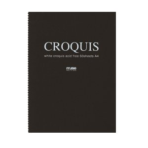 CROQUIS クロッキーブック ホワイト B3 黒表紙 yumegazai