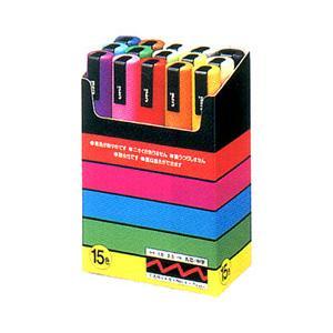 三菱鉛筆 ポスカ 中字サイズ15色セット